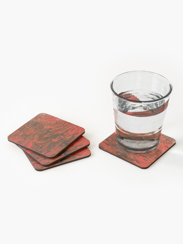 Alternate view of Red Hot Waves Coasters (Set of 4)