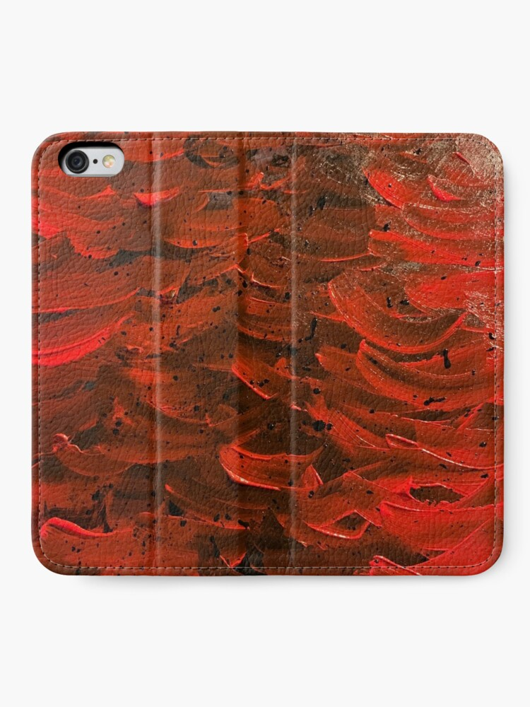 Alternate view of Red Hot Waves iPhone Wallet
