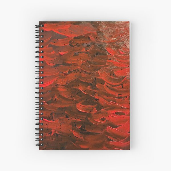 Red Hot Waves Spiral Notebook