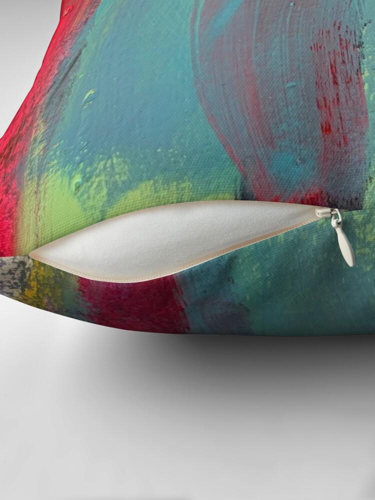 Alternate view of Neon Stripes  Throw Pillow