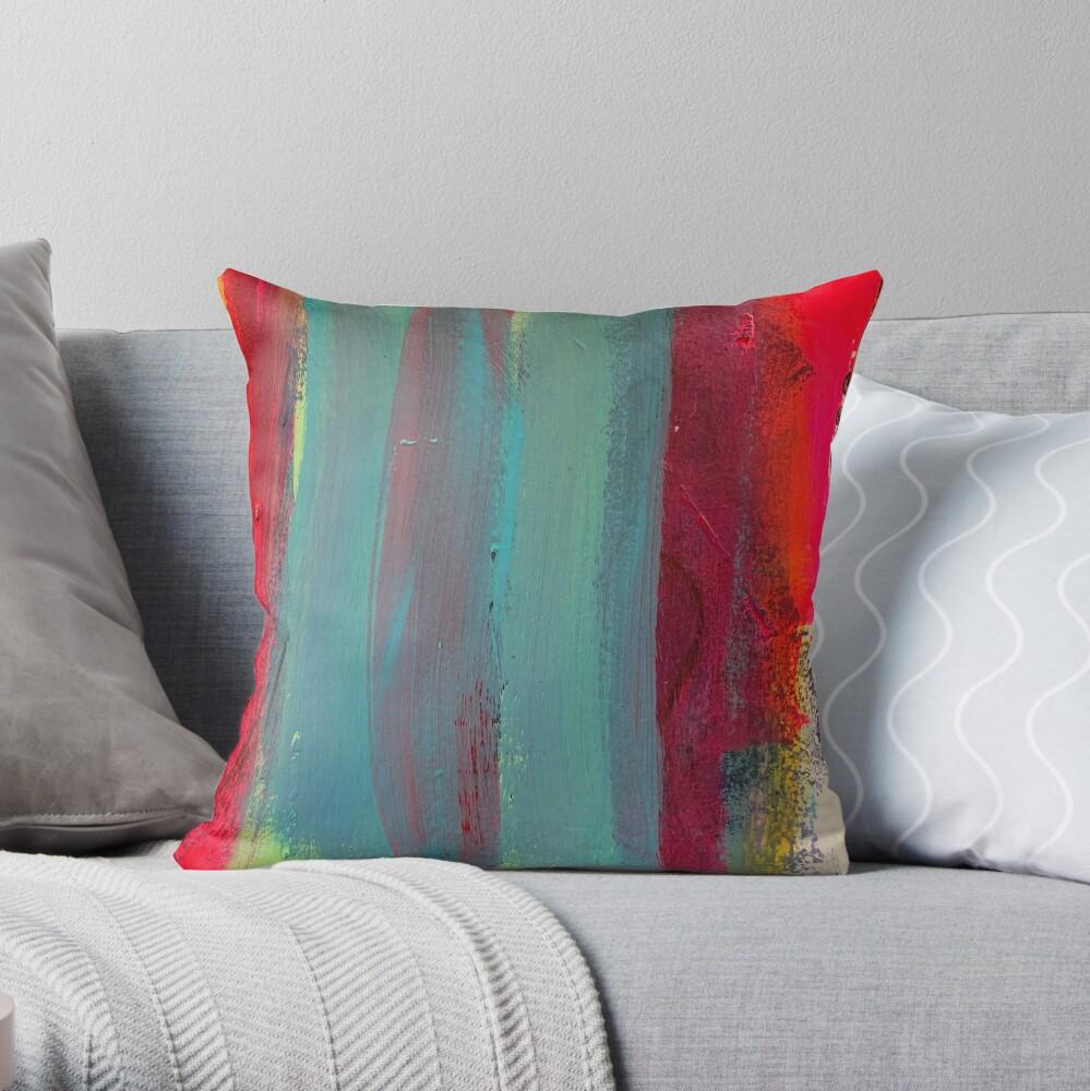 Neon Stripes  Throw Pillow