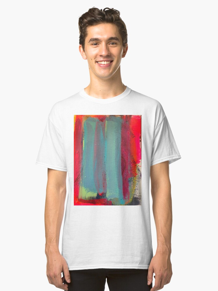 Alternate view of Neon Stripes  Classic T-Shirt