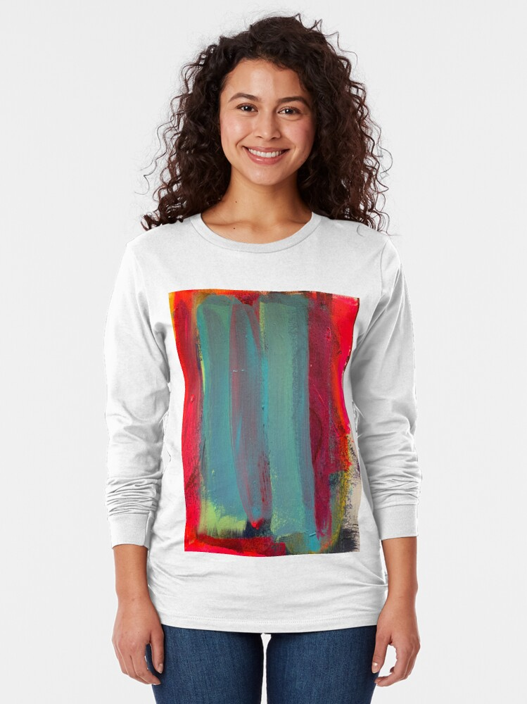 Alternate view of Neon Stripes  Long Sleeve T-Shirt