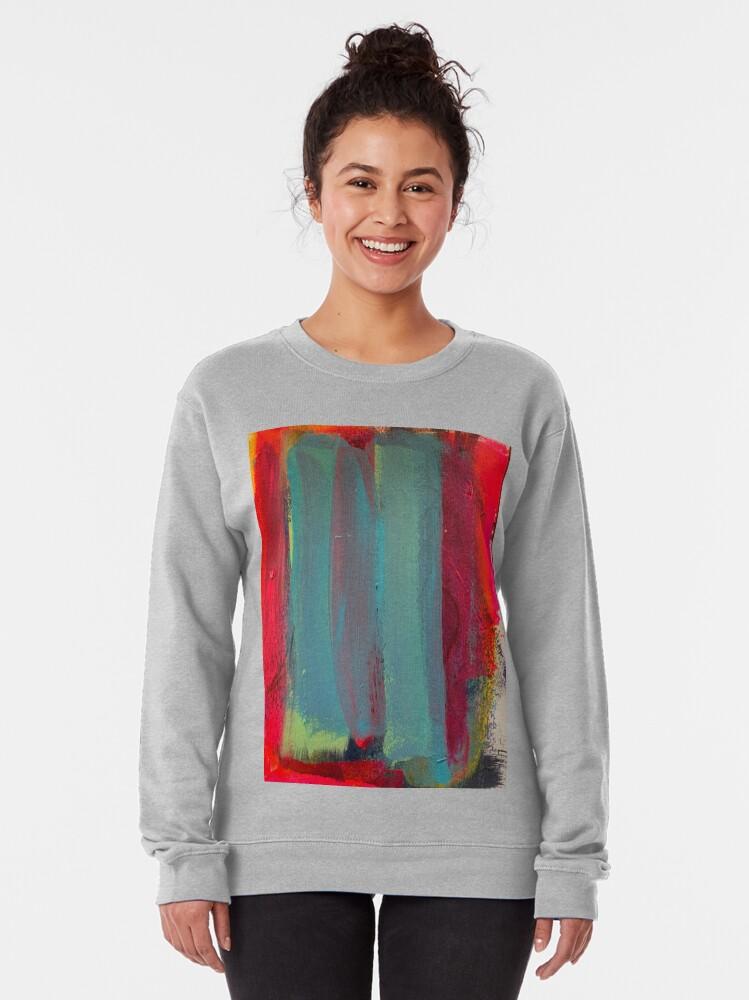 Alternate view of Neon Stripes  Pullover Sweatshirt