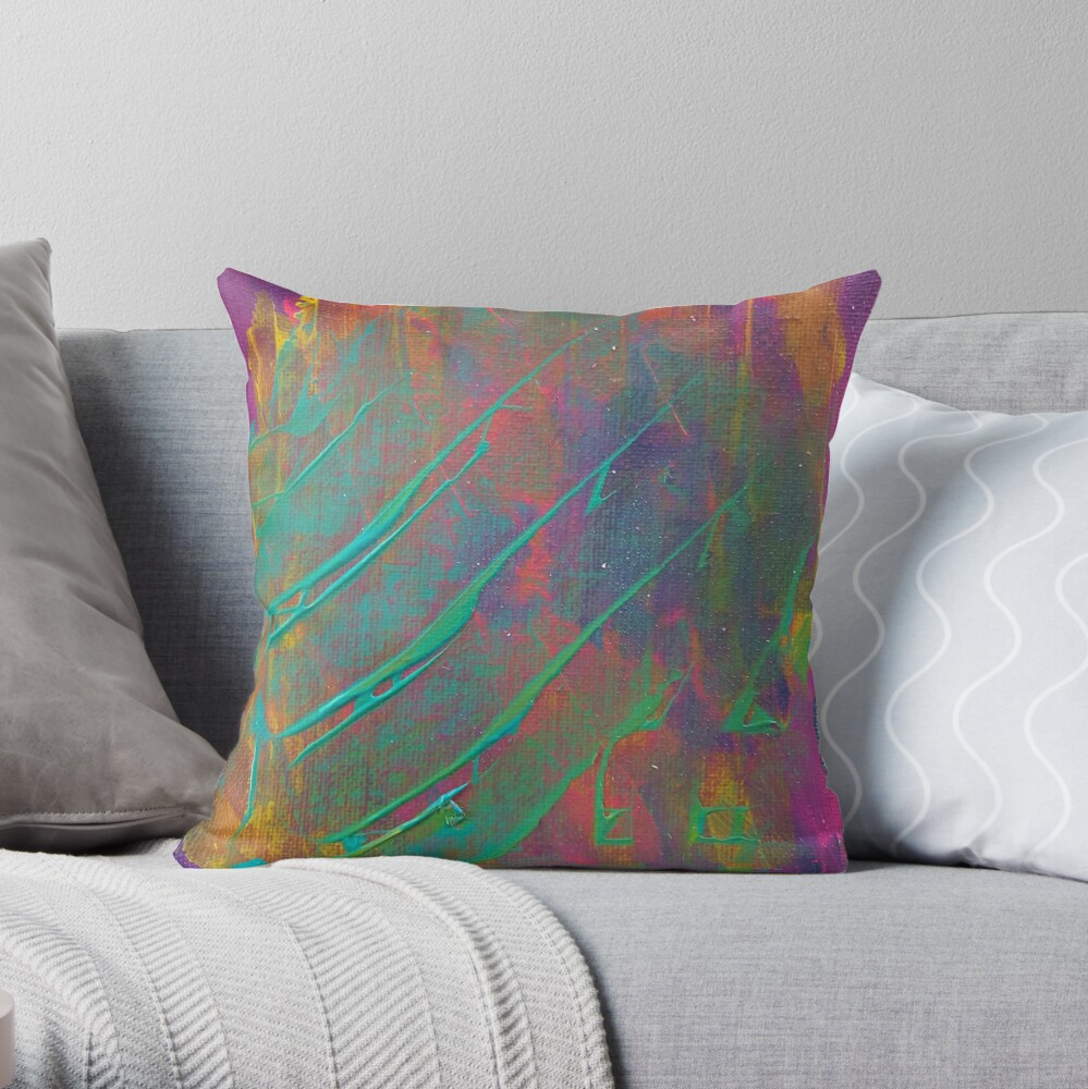 Peace and Popsicles  Throw Pillow