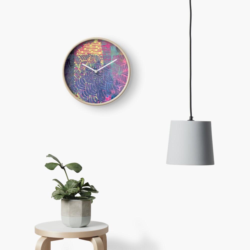 The Purple Palm Tree Clock
