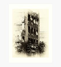 Collapsed Building  Art Print