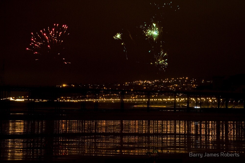 Fireworks in the sky by Barry James Roberts