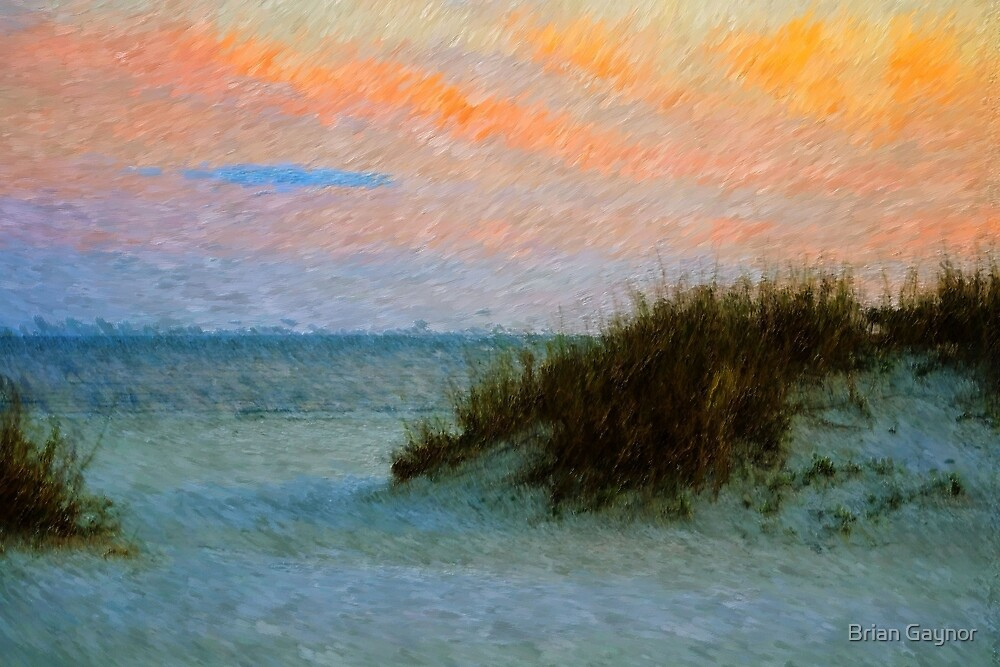 Sunset Over the Gulf by Brian Gaynor
