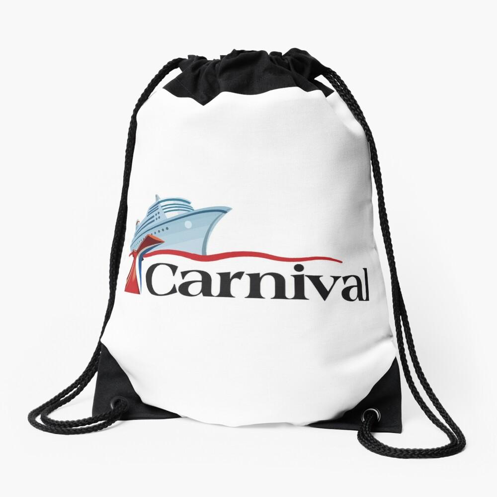 Carnival Cruise Line Ship Design Drawstring Bag