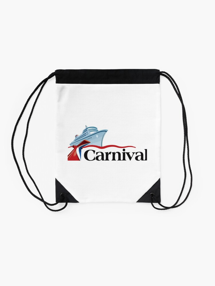 Alternate view of Carnival Cruise Line Ship Design Drawstring Bag