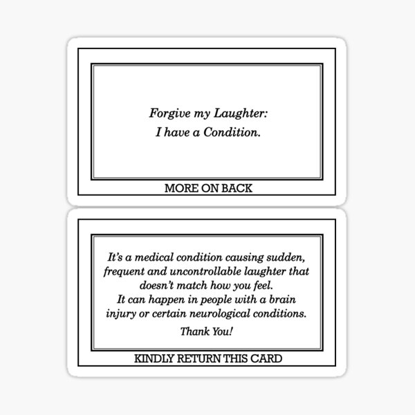 Medical Condition Card Sticker
