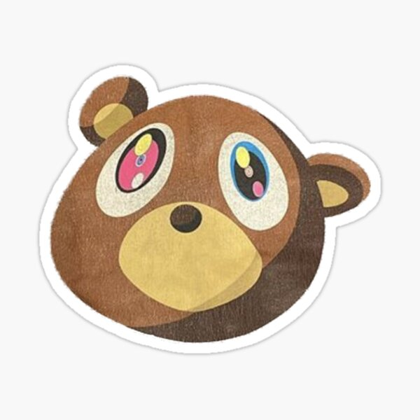 Kanye West Graduation Bear Takashi Murakami Style Art T-Shirt Shirt Sticker