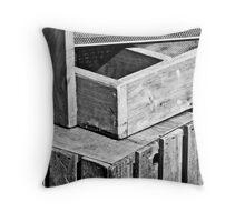 Farmer's Crates Throw Pillow