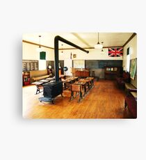 No. 14 Schoolhouse (Petrolia Discovery) Canvas Print