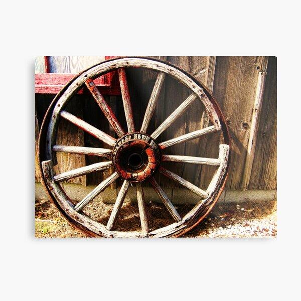 Wagon Wheel (Petrolia Discovery) Metal Print
