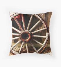Wagon Wheel (Petrolia Discovery) Throw Pillow