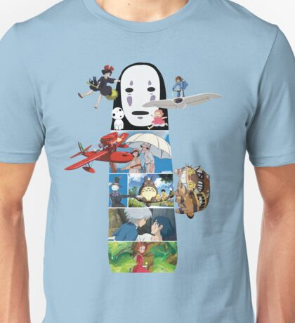 No Face-Hayao Miyazaki Films Unisex T-Shirt