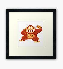 Donkey Kong 8 Bit Framed Print