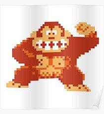 Donkey Kong 8 Bit Poster