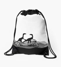DINO BYCICLE - DINO on bycicle - Dino Collection Drawstring Bag