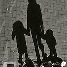 Holding Hands Shadow - Lindfield by Matthew Floyd