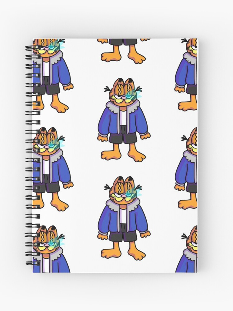 Garfield Sans Undertale Spiral Notebook By 7kalidestroyer7 Redbubble