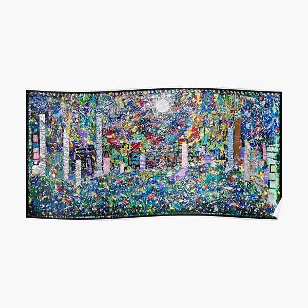 3D Layered Resin Landscape Art Coffee Table by Chicago Artist Gary Bradley Poster