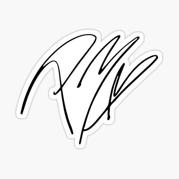 Autographe Post Malone Sticker