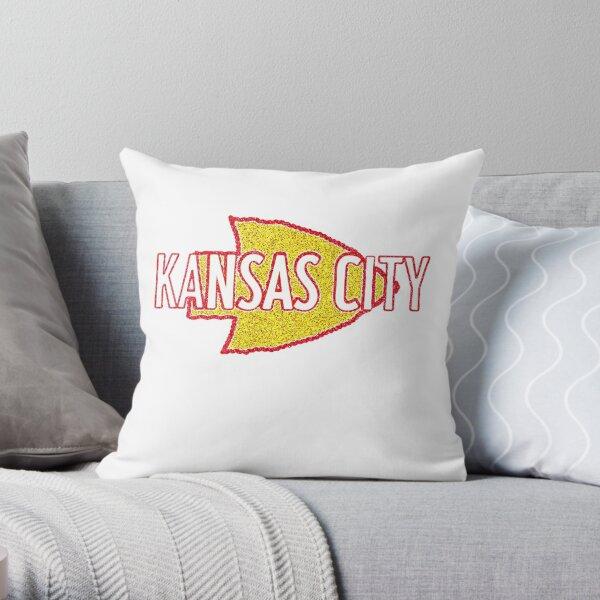 Kansas City Football with Arrowhead Throw Pillow