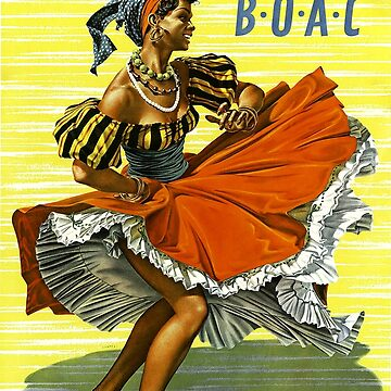 Caribbean Vintage Travel Poster ~ Fly BOAC Airline ~ 0574 by ContrastStudios