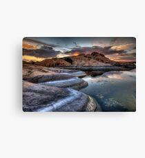 1 2 3 Sunset Canvas Print