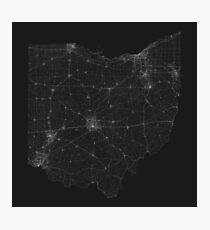 Roads of Ohio. (White on black) Photographic Print