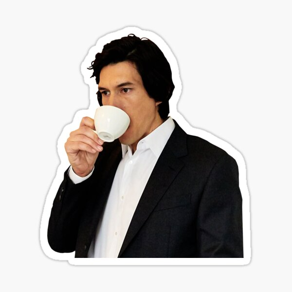 Meme Adam Driver Sipping Tea/Coffee  Sticker