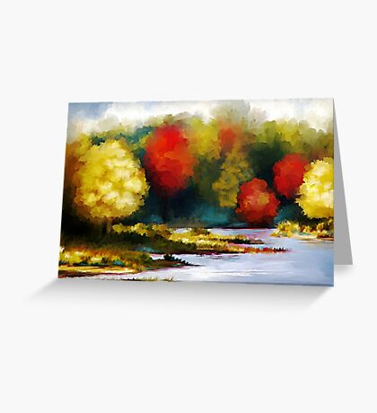 Autumn Landscape - Abstract Art Greeting Card