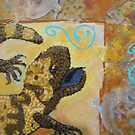 Desert Treasure (detail from 12 x12 mixed media on board) by Kay Hale