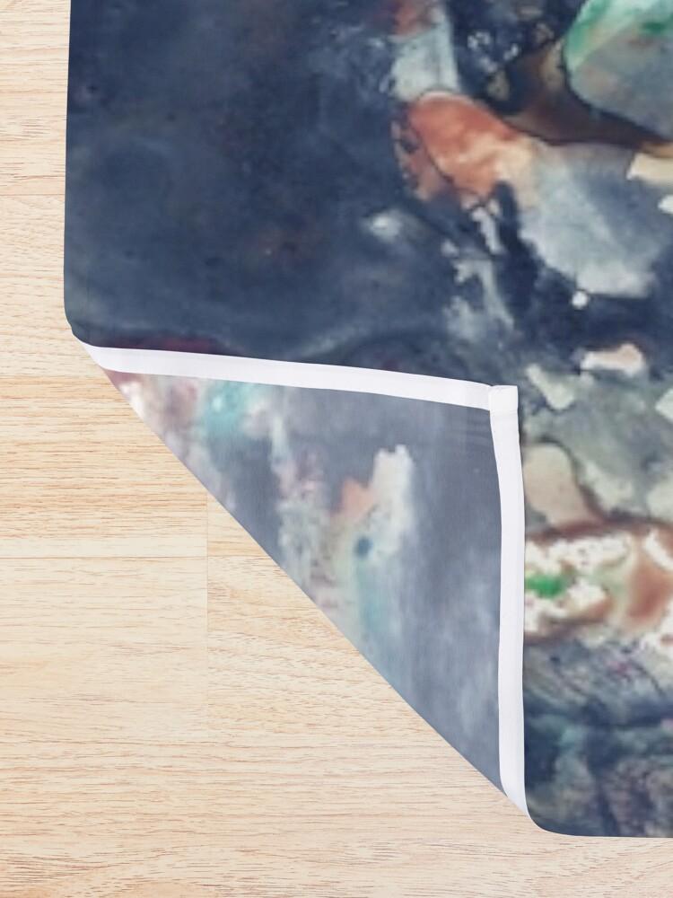 Alternate view of Galaxy Grunge Shower Curtain