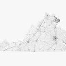 Roads of Virginia. (Black on white) von Graphical-Maps