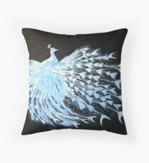Albino Peacock 1 Throw Pillow