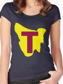 Map of Tassie Women's Fitted Scoop T-Shirt