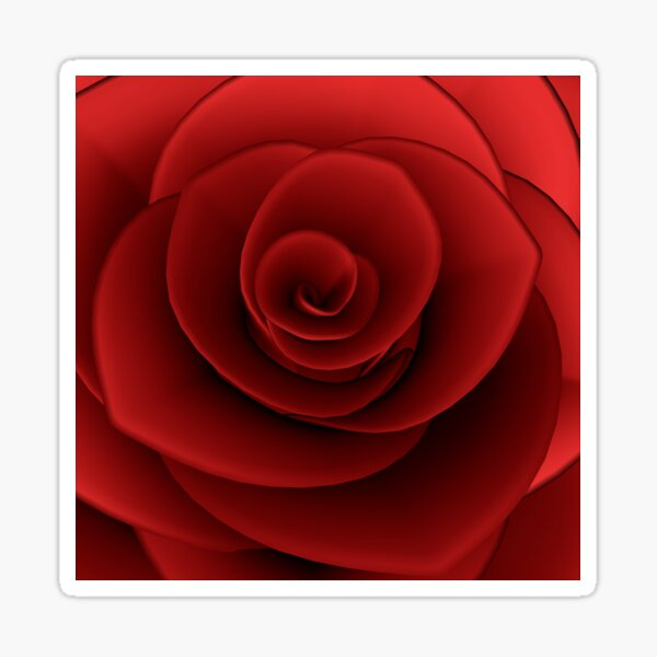 The Magic of a Red Rose Sticker