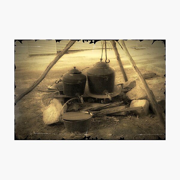 Old Cooking Pots Photographic Print