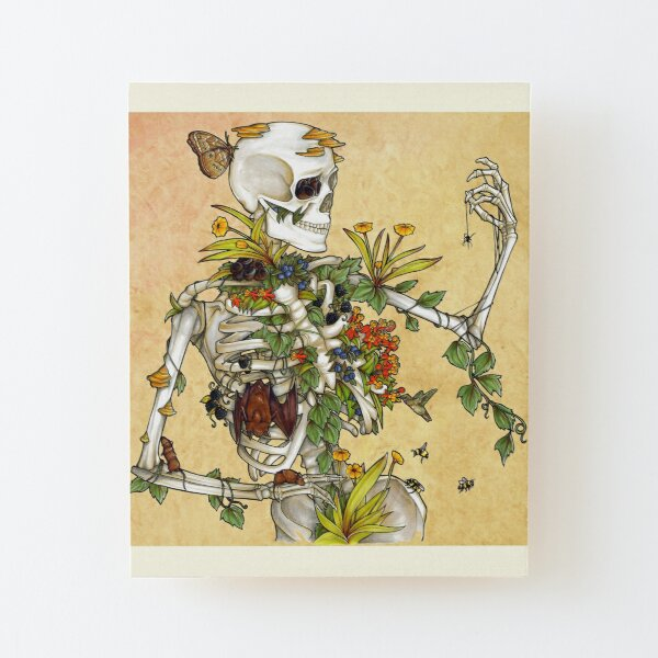 Bones and Botany Wood Mounted Print