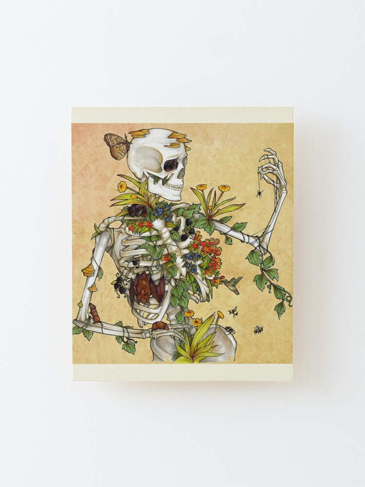 Alternate view of Bones and Botany Mounted Print