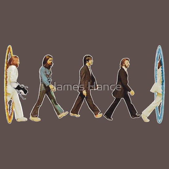 TShirtGifter presents: 'Aperture Road' - Design #2 (Portal / The Beatles)