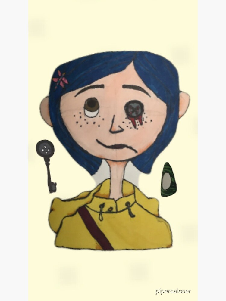 Coraline Drawing Greeting Card By Pipersaloser Redbubble