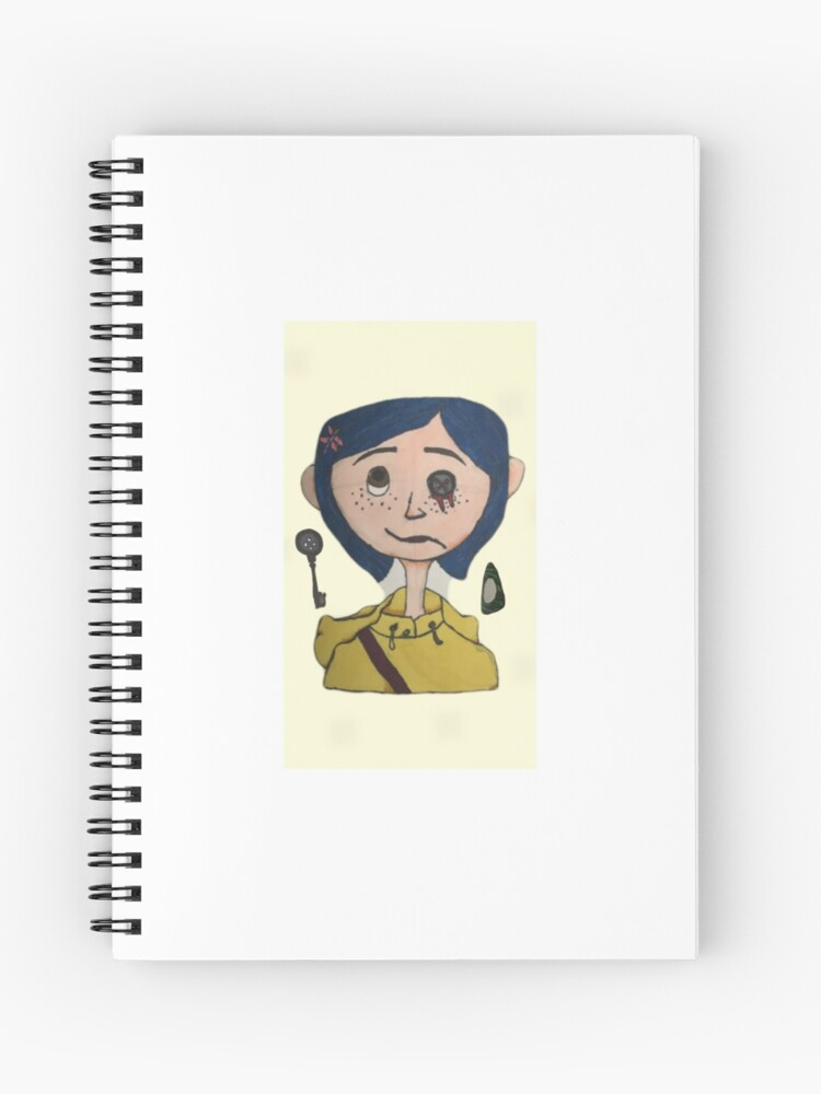 Coraline Drawing Spiral Notebook By Pipersaloser Redbubble