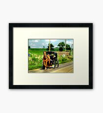 Watch behind you Mom! Framed Print
