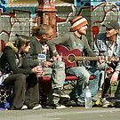 Fitzroy  buskers by John Mitchell