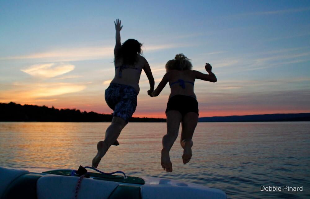 Sunset Swim - Ottawa River, Ontario by Debbie Pinard